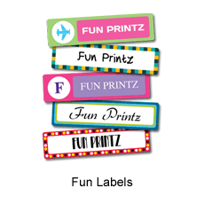 Laminated for durability, fade & water resistant Fun Labels/Stickers