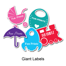 Let your uniqueness shine through with a personalized Giant Labels/Stickers