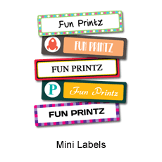 Mini Labels/Stickers perfect for your personal belongings