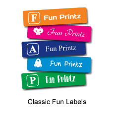 Personalized classic fun labels for stationery and water bottles!
