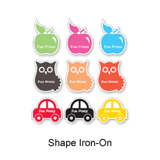 Let your uniqueness shine through with a personalized Shape Iron-On Label